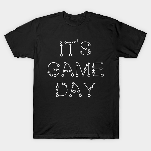 It's Game Day Football Playbook T-Shirt-TOZ
