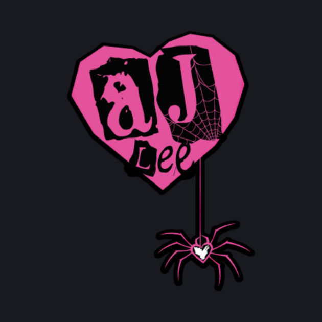 AJ Lee heart and spider