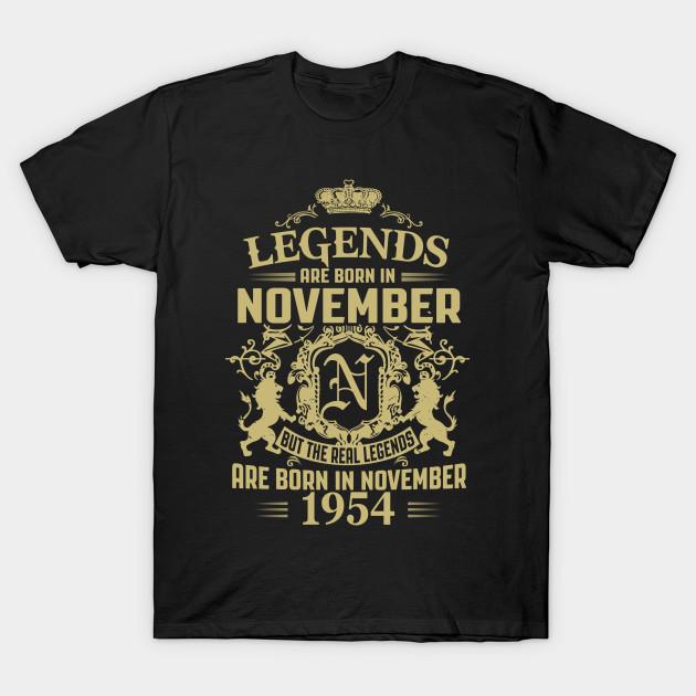 Legends are Born in November 1954
