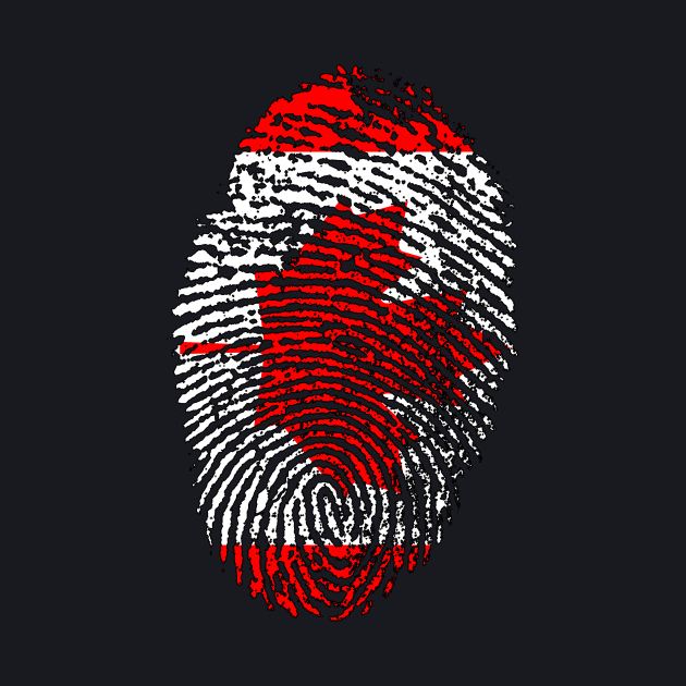 Canada Flag - Canadian Flag - CA Flag Fingerprint
