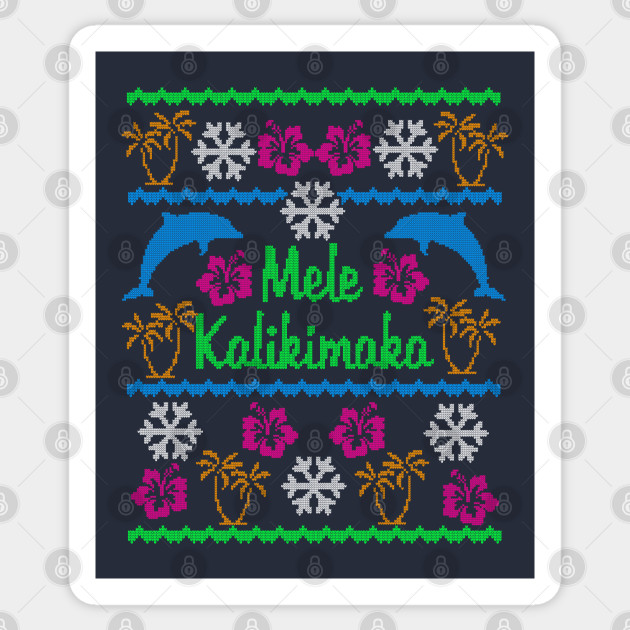 Hawaiian Mele Kalikimaka Ugly Christmas Sweater Party Shirt
