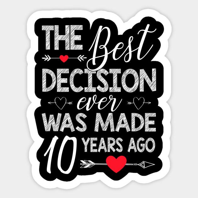 10th Wedding Anniversary Shirt For Couple 10th Wedding Anniversary Gifts Sticker Teepublic Uk