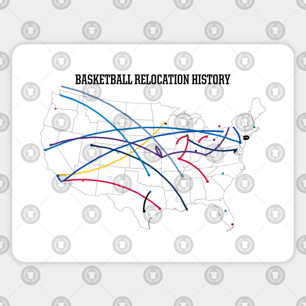 NBA Relocation Map