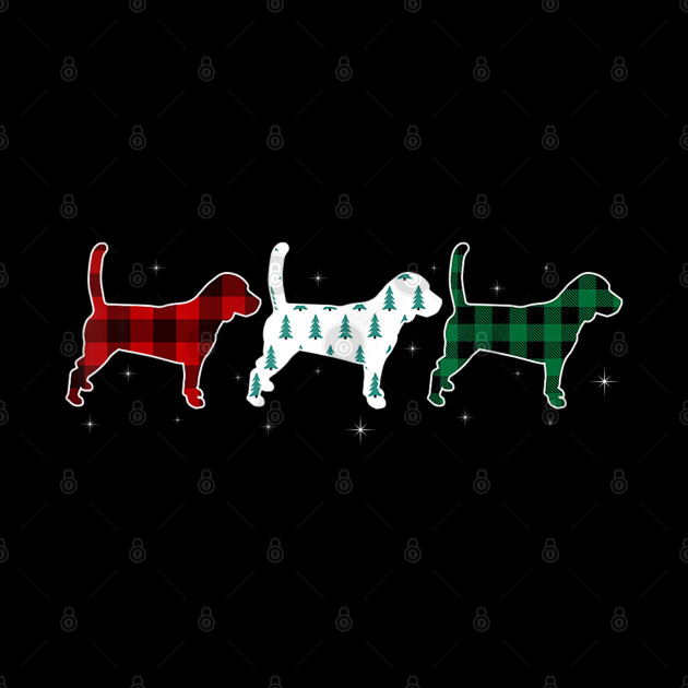 Funny Beagle Red Plaid Christmas Gift Dog Lover