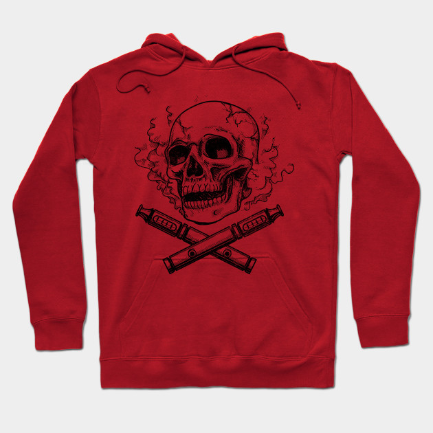 Skull Vape Distressed Retro Vaping Hoodie