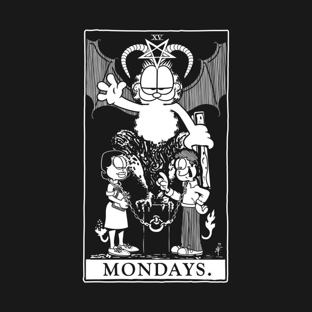 Garfield Tarot: Mondays (Printed White)