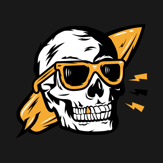 Funny Skull with Glasses