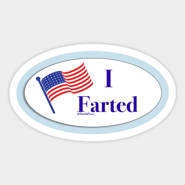 photo about I Voted Stickers Printable titled I Farted
