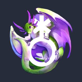 Trans Pride Dragon Lgbtqia T Shirt Teepublic