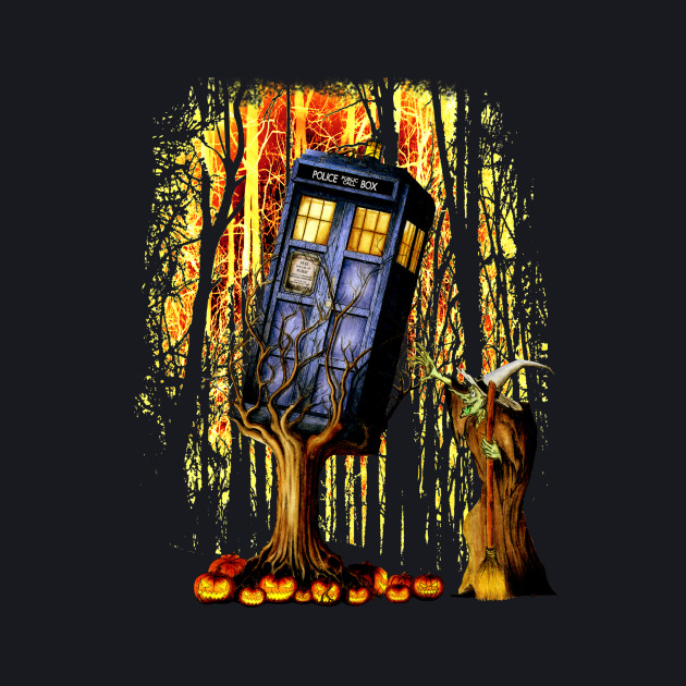 Halloween captured Blue Phone box