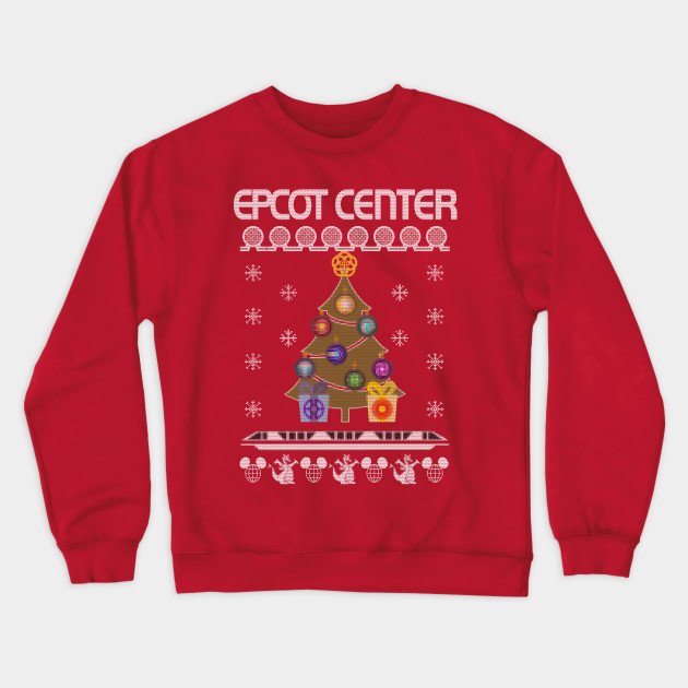 Disney Ugly Christmas Sweater.Ugly Disney Christmas Sweater Epcot Center