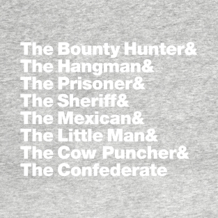 Hateful Eight Helvetica t-shirts