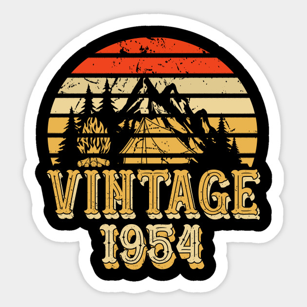 Born In 1954 64th Birthday Years Vintage Rentro Sticker