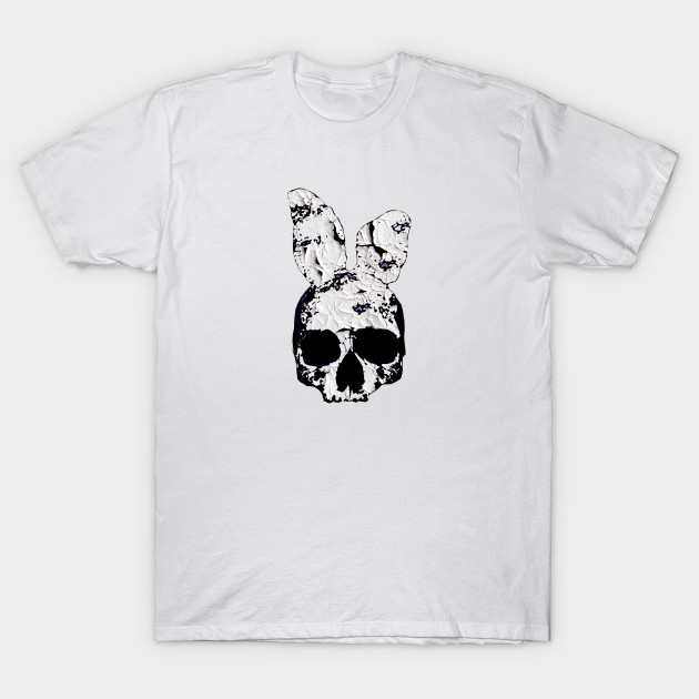 Evil Skull with bunny ears t shirt T-Shirt-TOZ