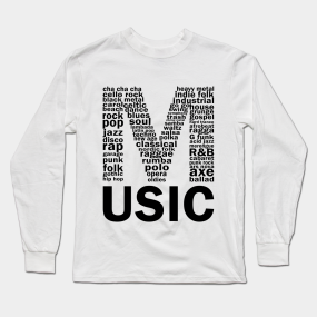 music genres long sleeve t shirt