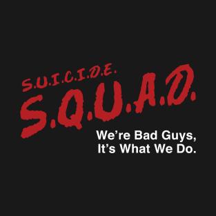 S.U.I.C.I.D.E. S.Q.U.A.D. t-shirts