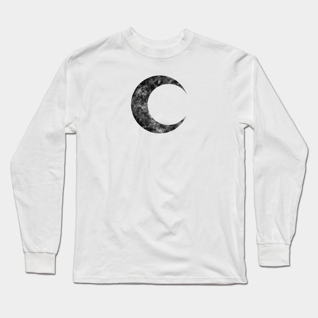 Moon Knight Classic Symbol Black Dirty Moon Knight Long