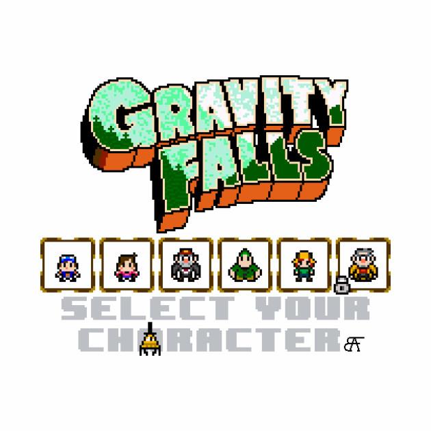 GRAVITY FALLS SELECT SCREEN