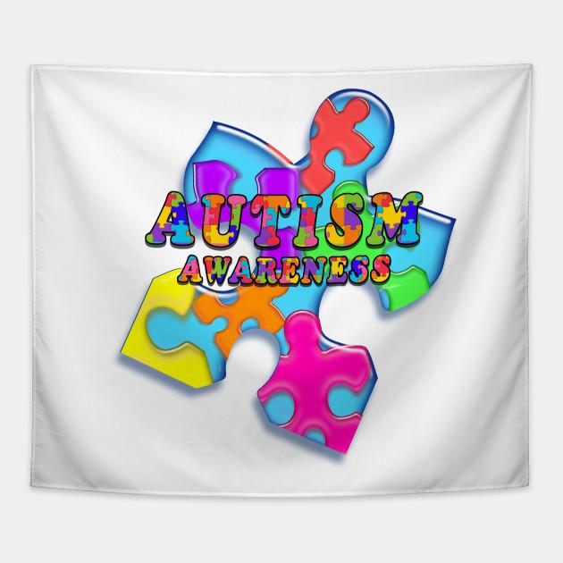 Autism Awareness Puzzle Man