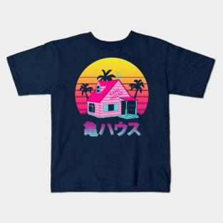 Cloud City 7 Retro Wave Kame House Dragon Ball Z Kids Sweatshirt