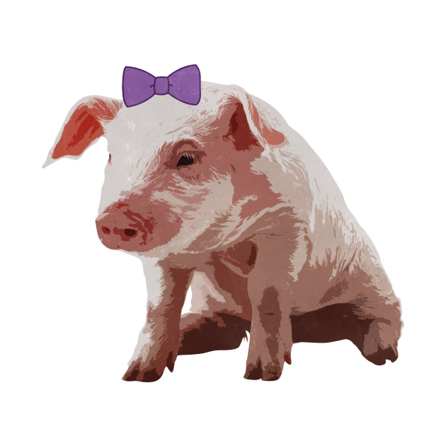 Cute Bow Southern Preppy Pig
