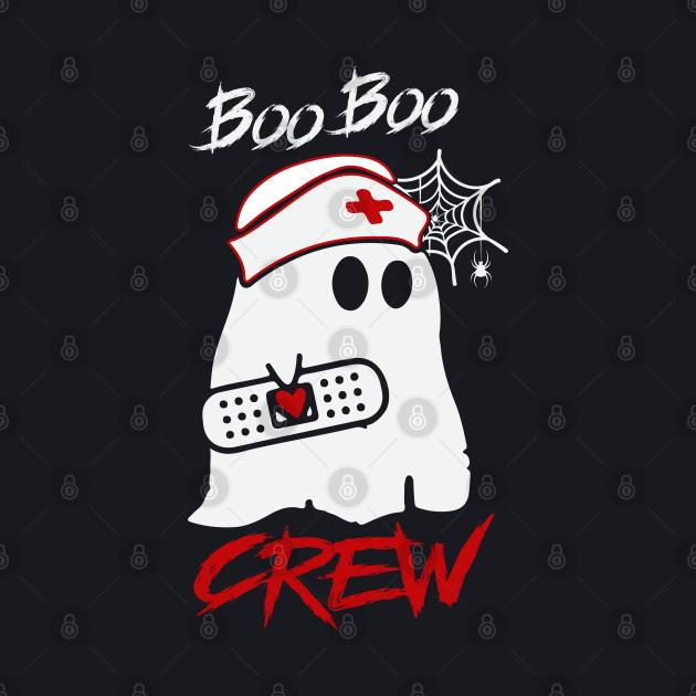 Boo Boo Crew Nurse Ghost T Shirt Halloween Costume