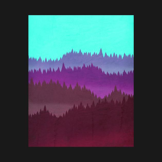 80's Vaporwave Mountains