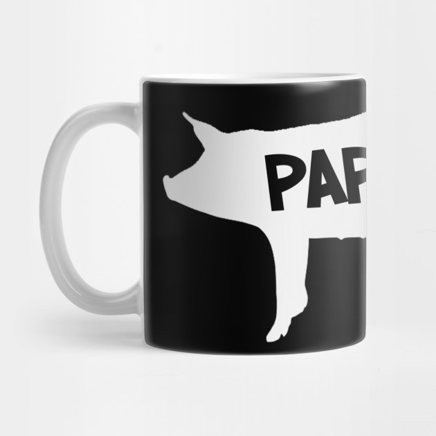 Papa Pig Silhouette Father's Day Family Mug