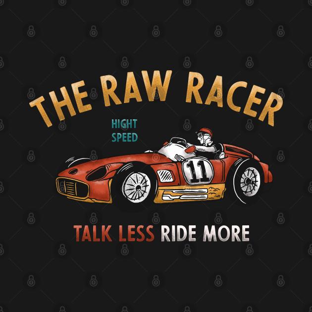 The Raw Racer Vintage Illustration
