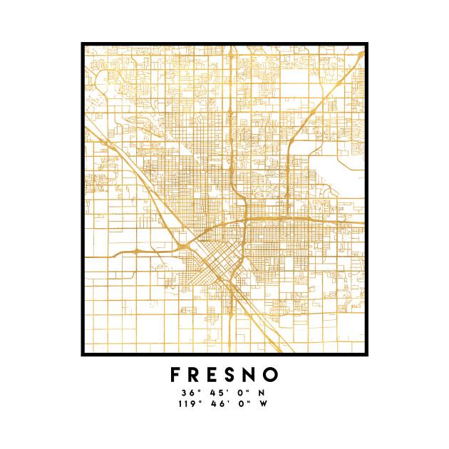 Fresno California Map on