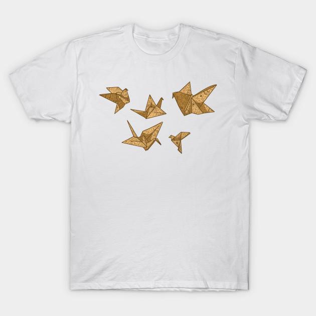 f34f0c90 Vintage Paper Crane - Origami - T-Shirt | TeePublic