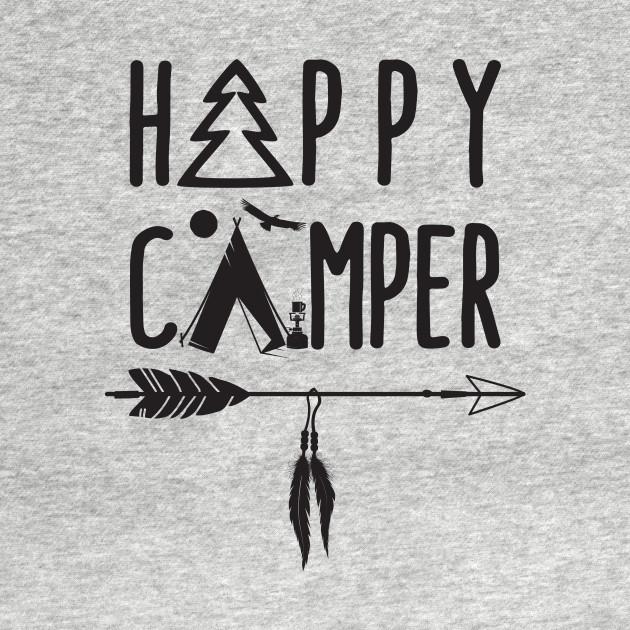 Happy Camper W Tent Tree Bow Arrow Feathers