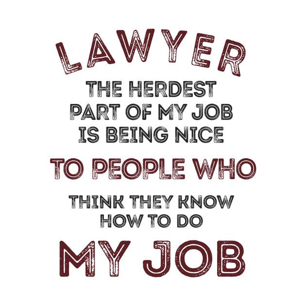 Lawyer, my job