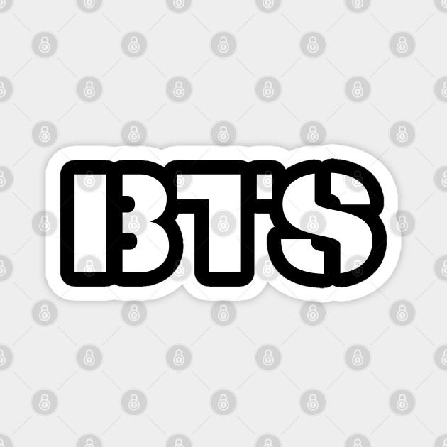 bts love army bts logo magnet teepublic bts love army
