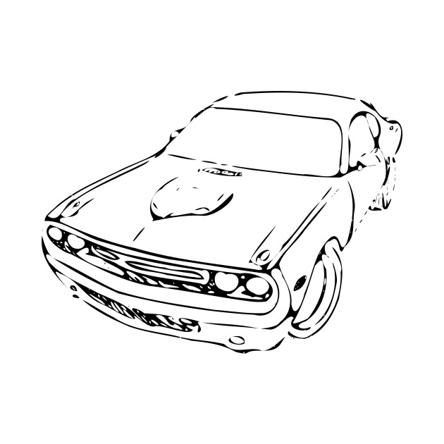 Limited Edition Exclusive Muscle Car Sketch Muscle Car Sketch