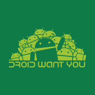 Droid Group want You (green) t-shirts