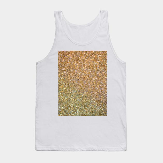 5ee64f3866a41b Gold   Silver Glitter Art - Gold Glitter - Tank Top