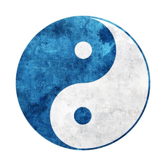 Blue Yin Yang Symbol Yin Yang T Shirt Teepublic