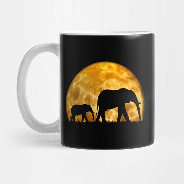 Safari Coffee Mug Giraffe Coffee Mug Elephant Coffee Mug African Sunset