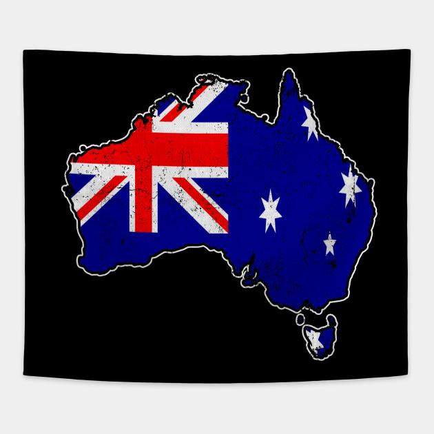 Australia Map And Flag.Australia Map Flag