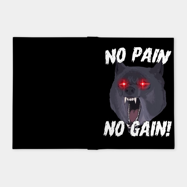 No Pain No Gain Gym Wolf Motivational Sports Quotes Gym Notebook