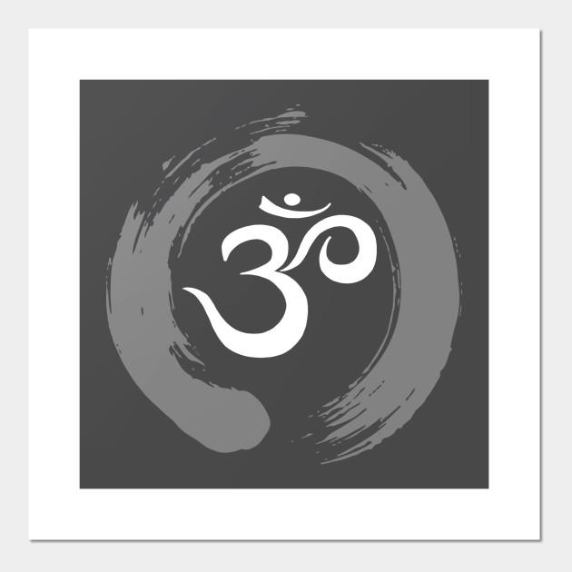 Ohm Sanskrit Symbol Zen Circle Namaste Peace Ohm Symbol Posters
