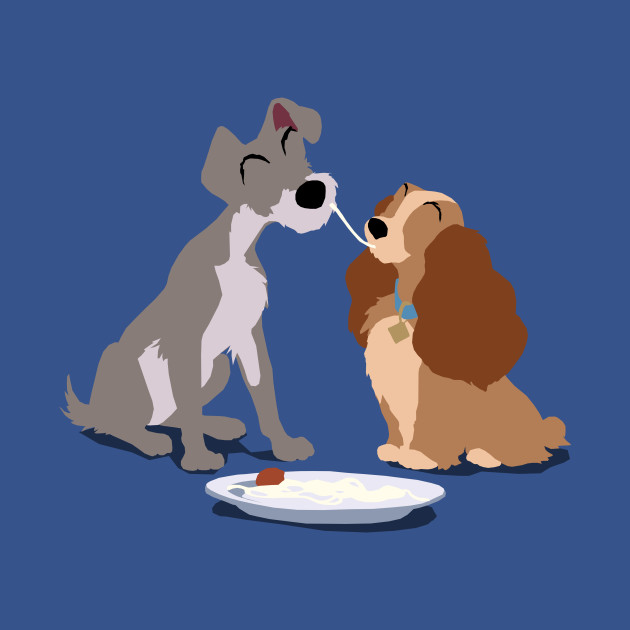 Lady And The Tramp Minimalist Disney T Shirt Teepublic