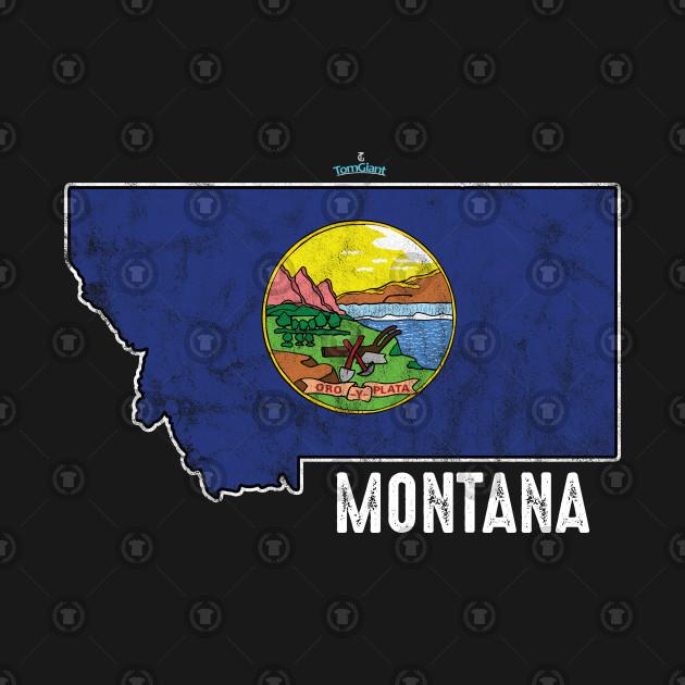 Montana City Country State Nationalism Patriotic Flag Symbols