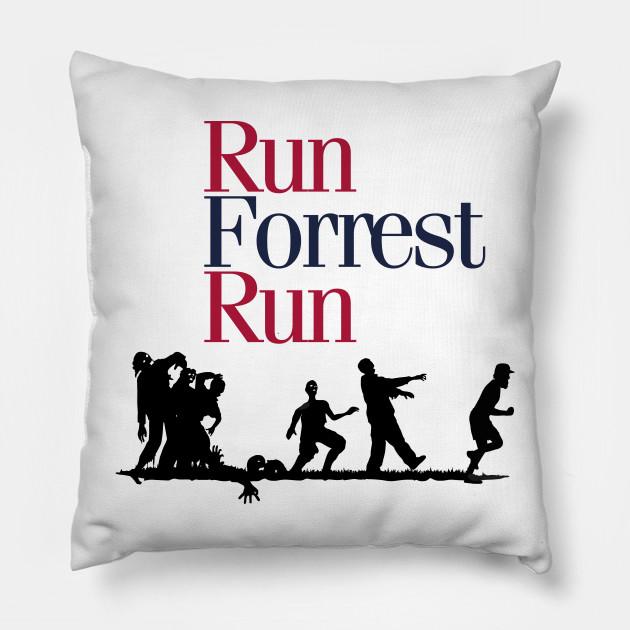 Run Forrest Run Forrest Gump Throw Pillow