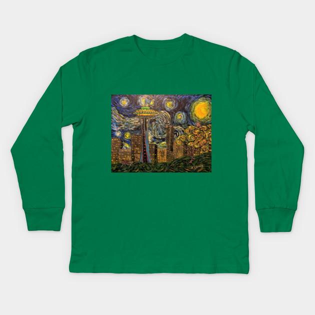 e08d32566d Dedication to Van Gogh (Seattle Starry Night) - Starry Night - Kids ...