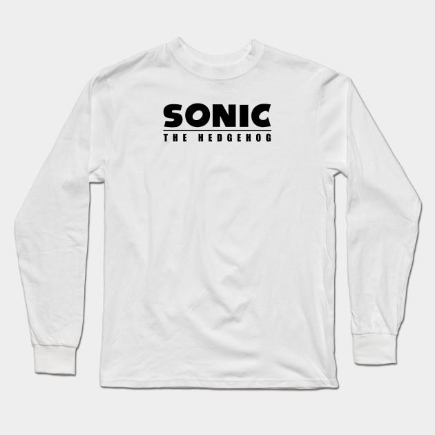 Sonic The Hedgehog Sonic The Hedgehog Design Long Sleeve T Shirt Teepublic
