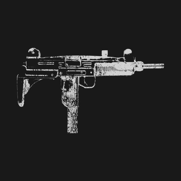 Uzi 9MM Submachine Gun Machine Pistol Gamer FPS Shooter