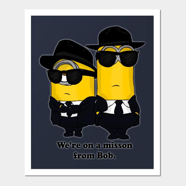 Minion Blues Brothers - Minions - Wall Art | TeePublic