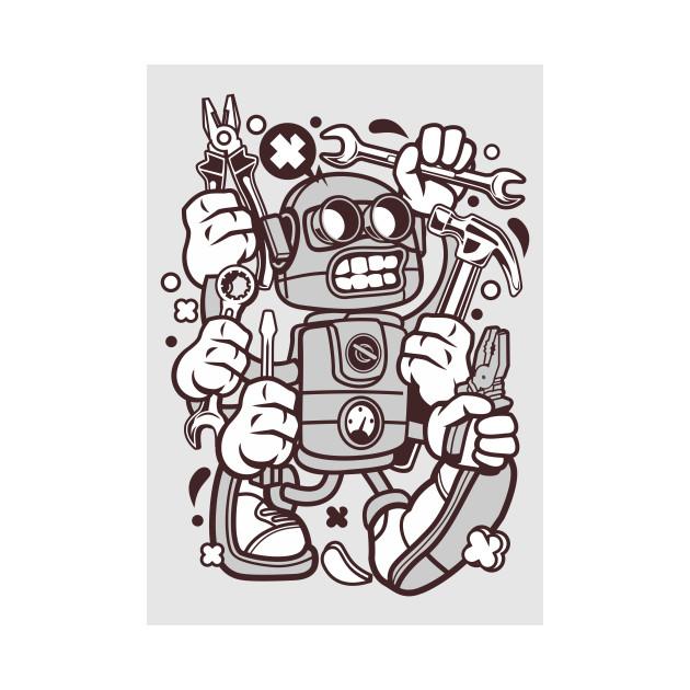 Design 57 Tools Robot
